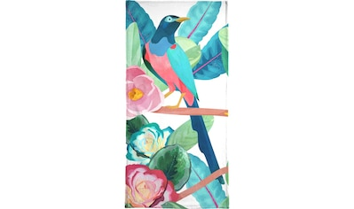 Juniqe Handtuch »Birds«, (1 St.), Weiche Frottee-Veloursqualität kaufen