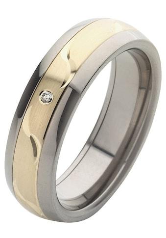 Firetti Trauring mit Gravur »glanz, längs gebürstet, Diamantschnitt, bicolor, 6,0 mm... kaufen