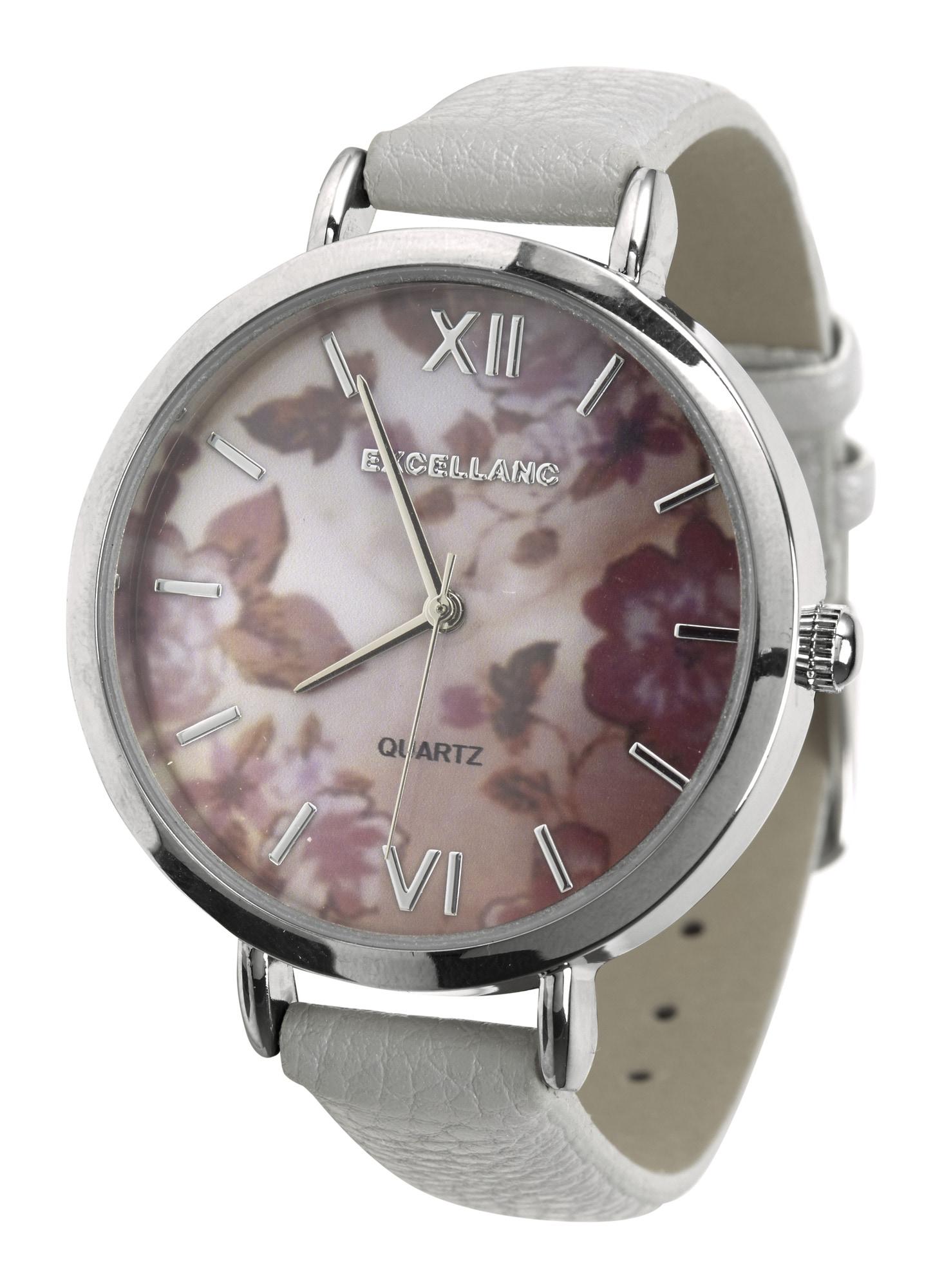heine - Armbanduhr mit floralem Ziffernblatt