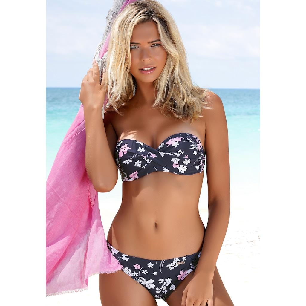 LASCANA Bügel-Bandeau-Bikini, mit Wickeloptik