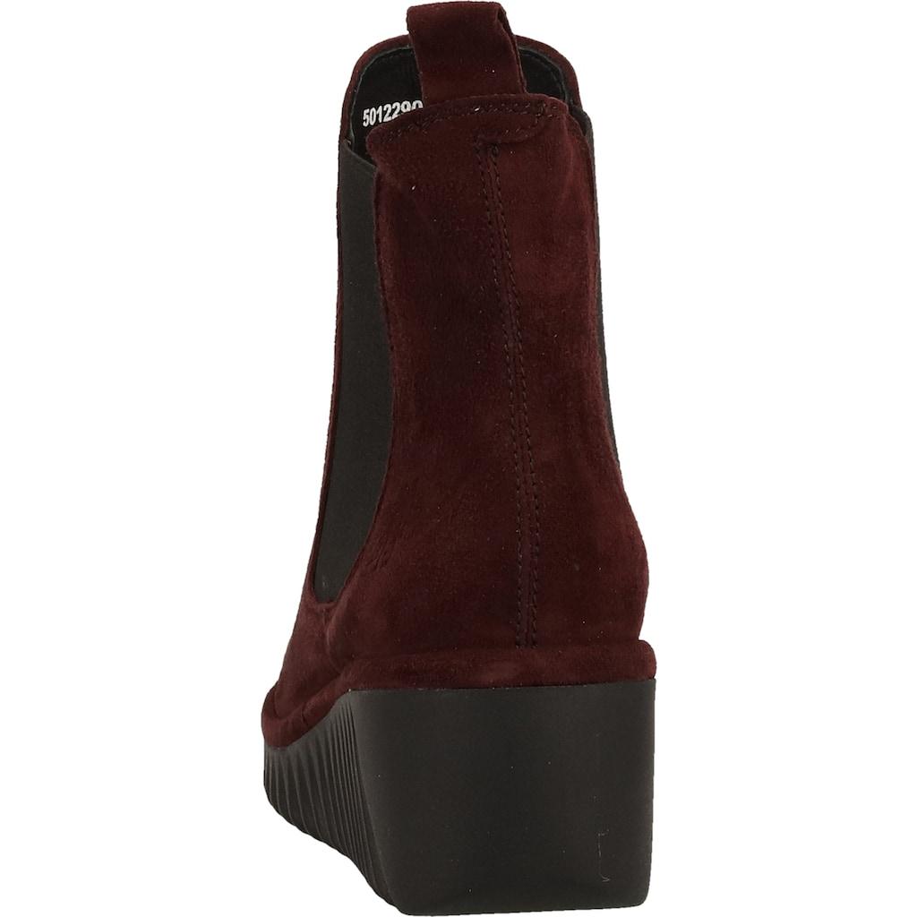 Fly London Keilstiefelette »Leder/Textil«