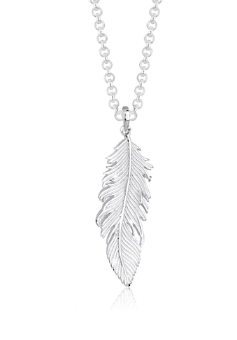Elli Kette mit Anhänger »Feder Anhänger Engel Gliederkette 925 Silber« kaufen