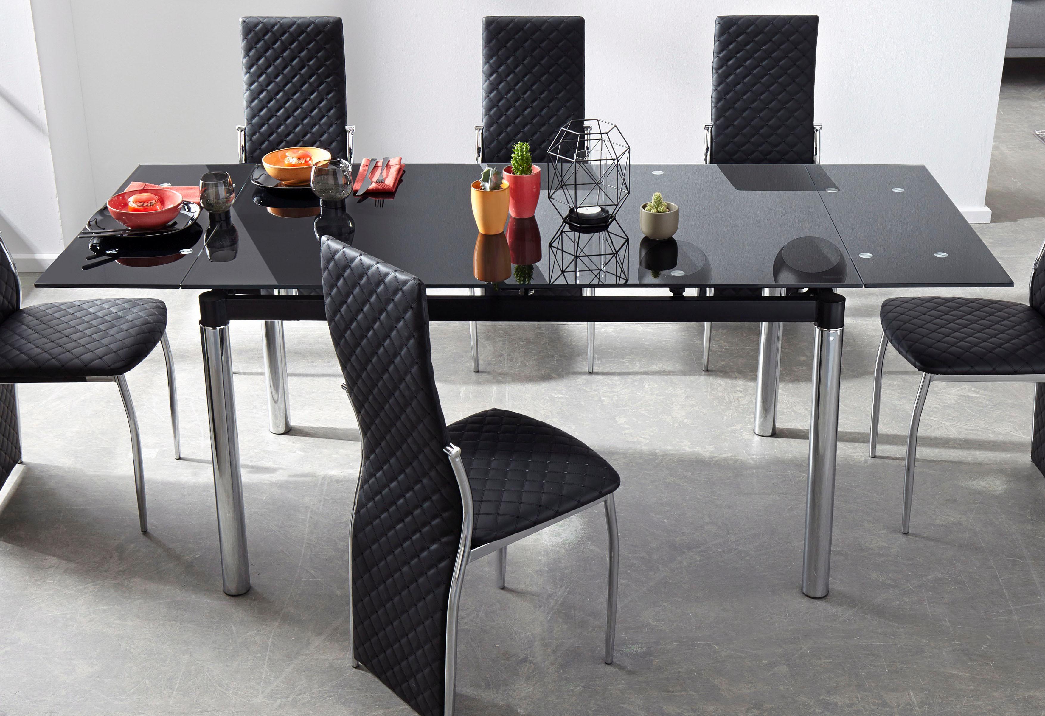 my home Esstisch schwarz Ausziehbare Esstische Tische