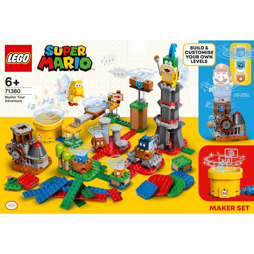 LEGO® Konstruktionsspielsteine »Baumeister-Set für eigene Abenteuer (71380), LEGO® Super Mario«, (366 St.), Made in Europe