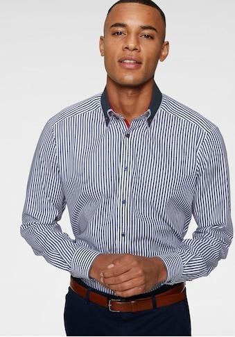 Bruno Banani Businesshemd, modischer Streifenlook, doppelter Button-down-Kragen kaufen