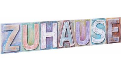 Home affaire Dekoobjekt »Zuhause«, Maße (B/H): ca. 60/13 cm kaufen