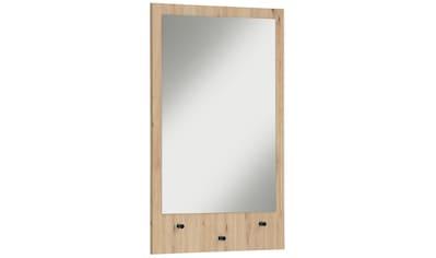 my home Wandspiegel »Dotti«, umkehrbarer Spiegel, mit drei schwarzen Haken, Breite... kaufen