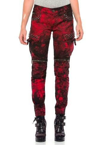 Cipo & Baxx Slim-fit-Jeans, mit lässigen Biker-Elementen kaufen