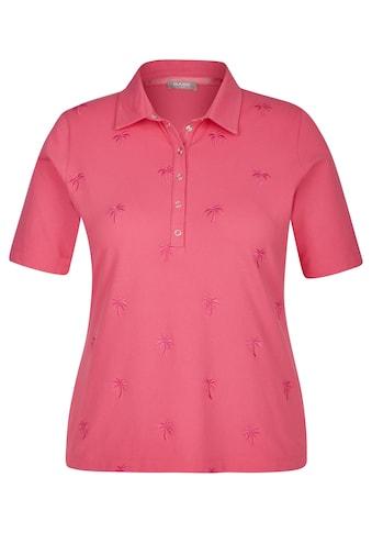 Rabe Kurzarmshirt, mit Polo-Kragen und Stickereien kaufen