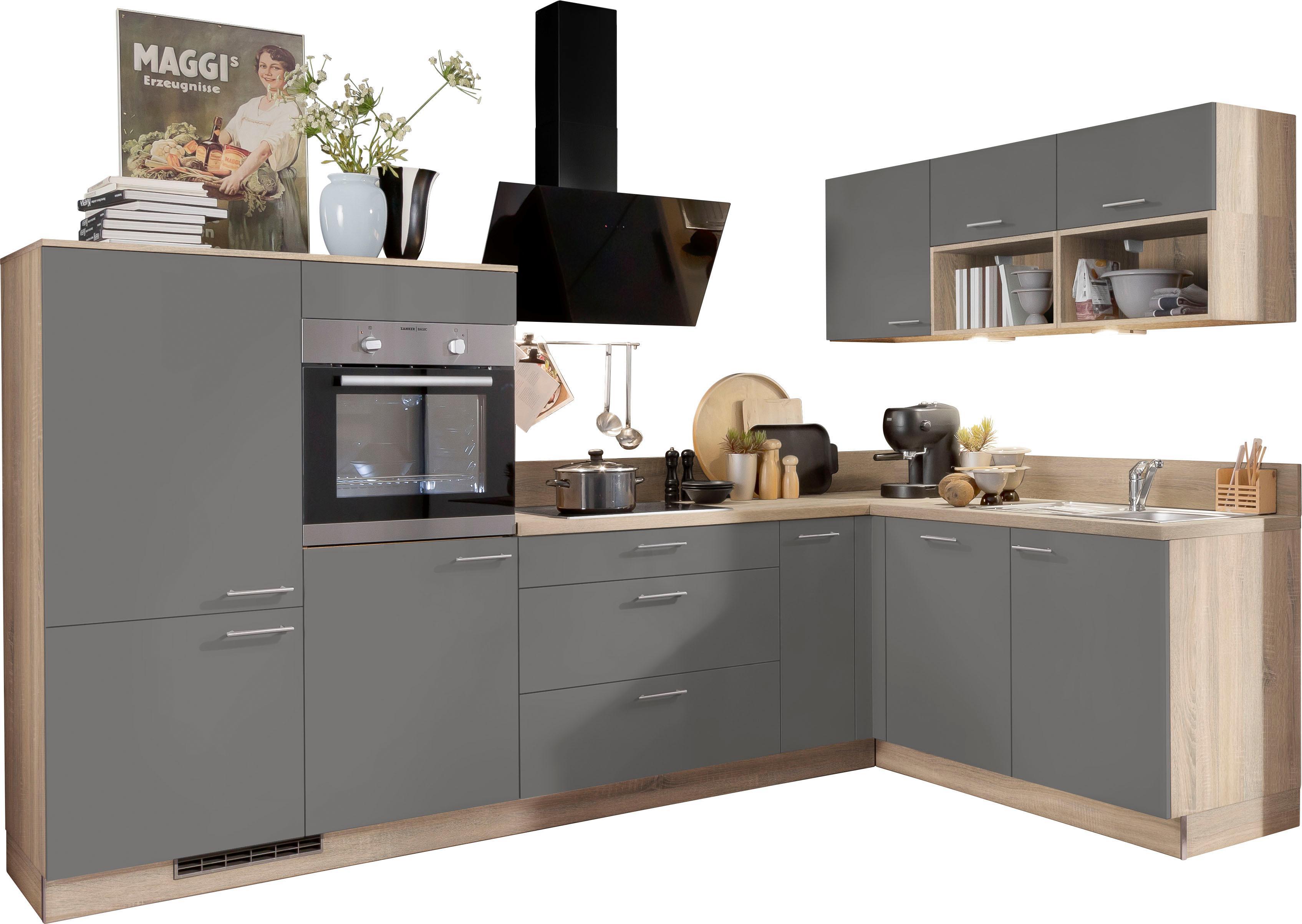 Express Küchen Winkelküche Scafa mit E-Geräten Stellbreite 305 x 185 cm