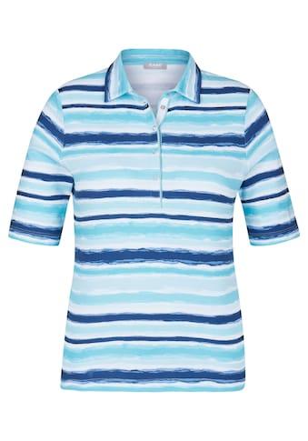 Rabe T-Shirt mit Streifen und Polo-Kragen kaufen