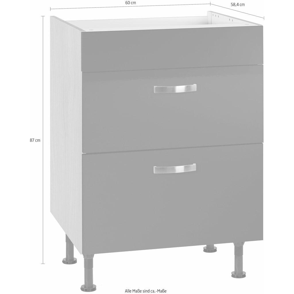 OPTIFIT Kochfeldumbauschrank »Cara«, Breite 60 cm, mit Vollauszügen und Soft-Close-Funktion