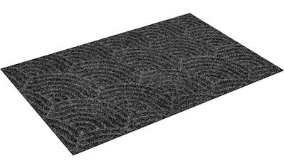 wash+dry by Kleen-Tex Fußmatte »Waves«, rechteckig, 8 mm Höhe, Fussabstreifer, Fussabtreter, Schmutzfangläufer, Schmutzfangmatte, Schmutzfangteppich, Schmutzmatte, Türmatte, Türvorleger, In- und Outdoor geeignet, waschbar kaufen