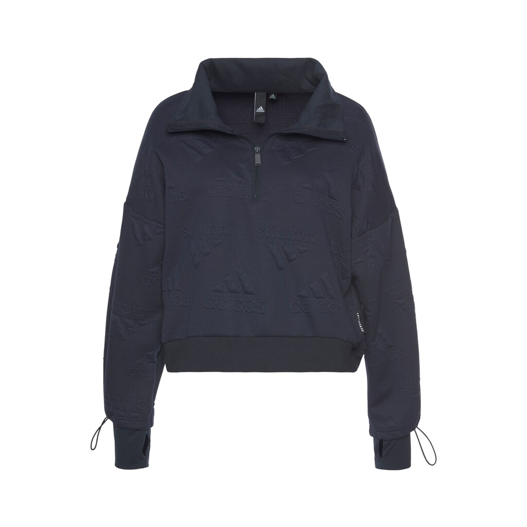 adidas Performance Sweatshirt »W Logo Jacquard Half-Zip Sweatshirt AEROREADY«
