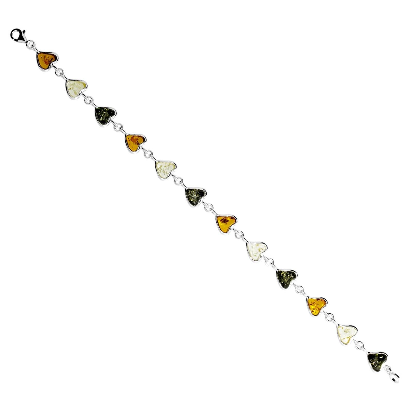 OSTSEE-SCHMUCK Armband Herz Silber 925/000 Bernstein | Schmuck > Armbänder | Ostsee-Schmuck