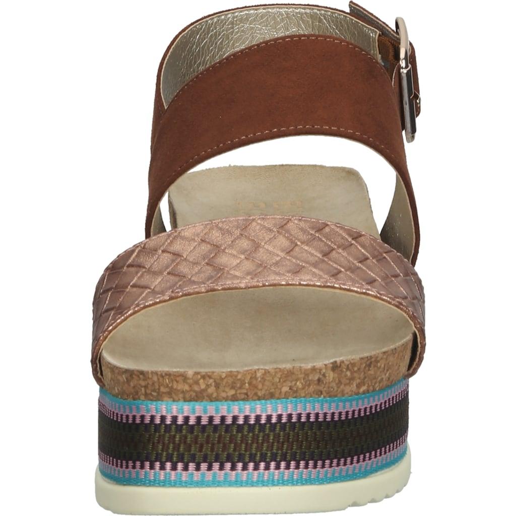 Bullboxer Plateausandaletten »Lederimitat/Textil«
