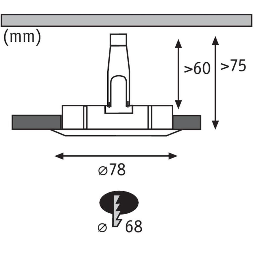 Paulmann LED Einbaustrahler »Nova rund 3x6,5W GU10 Eisen gebürstet 4000K starr«, GU10