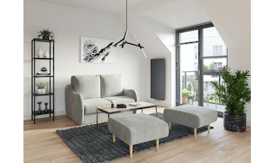 DOMO collection Sofa »Tiny Echo«, Sofa inklusive 2 Hocker kaufen
