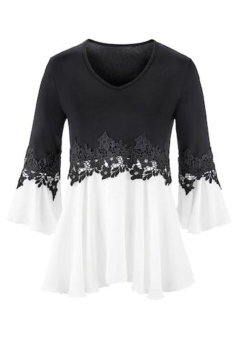 Lady Shirt mit Volant - Abschluss an den Ärmeln kaufen