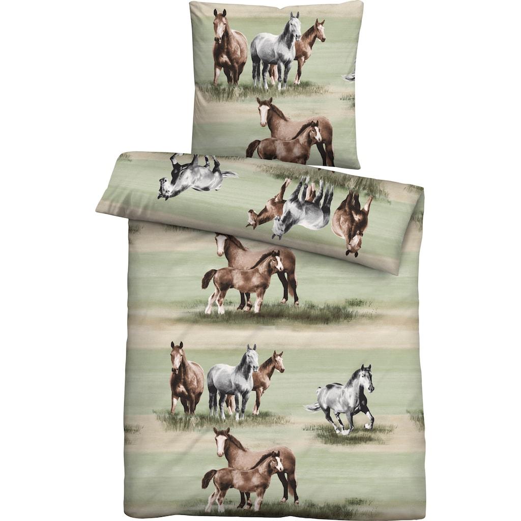 Biberna Jugendbettwäsche »Anastasia«, mit Pferden