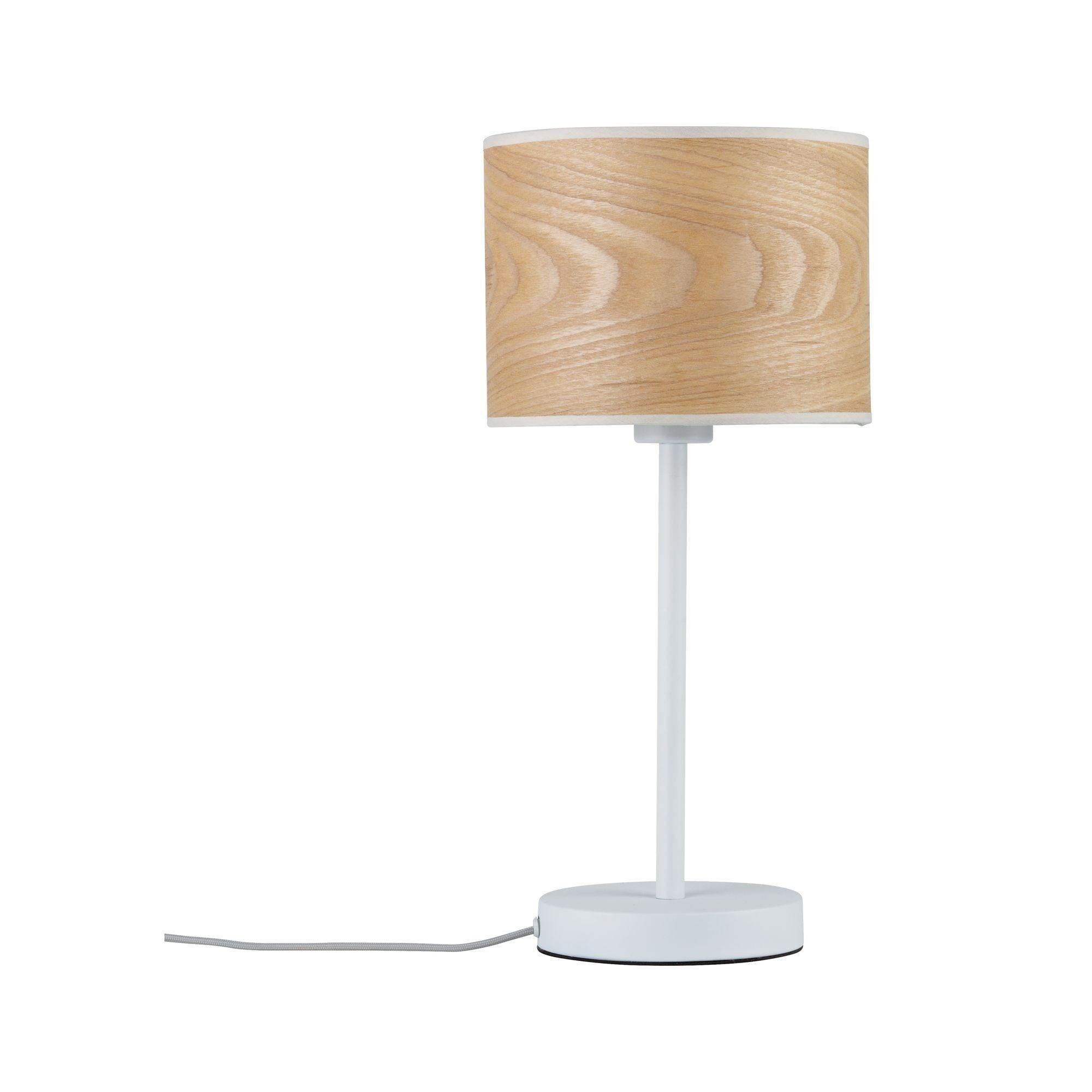 Paulmann LED Tischleuchte Neordic Neta Weiß/Holz, E27, 1 St.