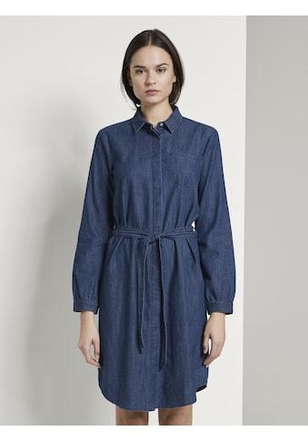 TOM TAILOR Jeanskleid »Mini Jeanskleid mit Bindegürtel« kaufen