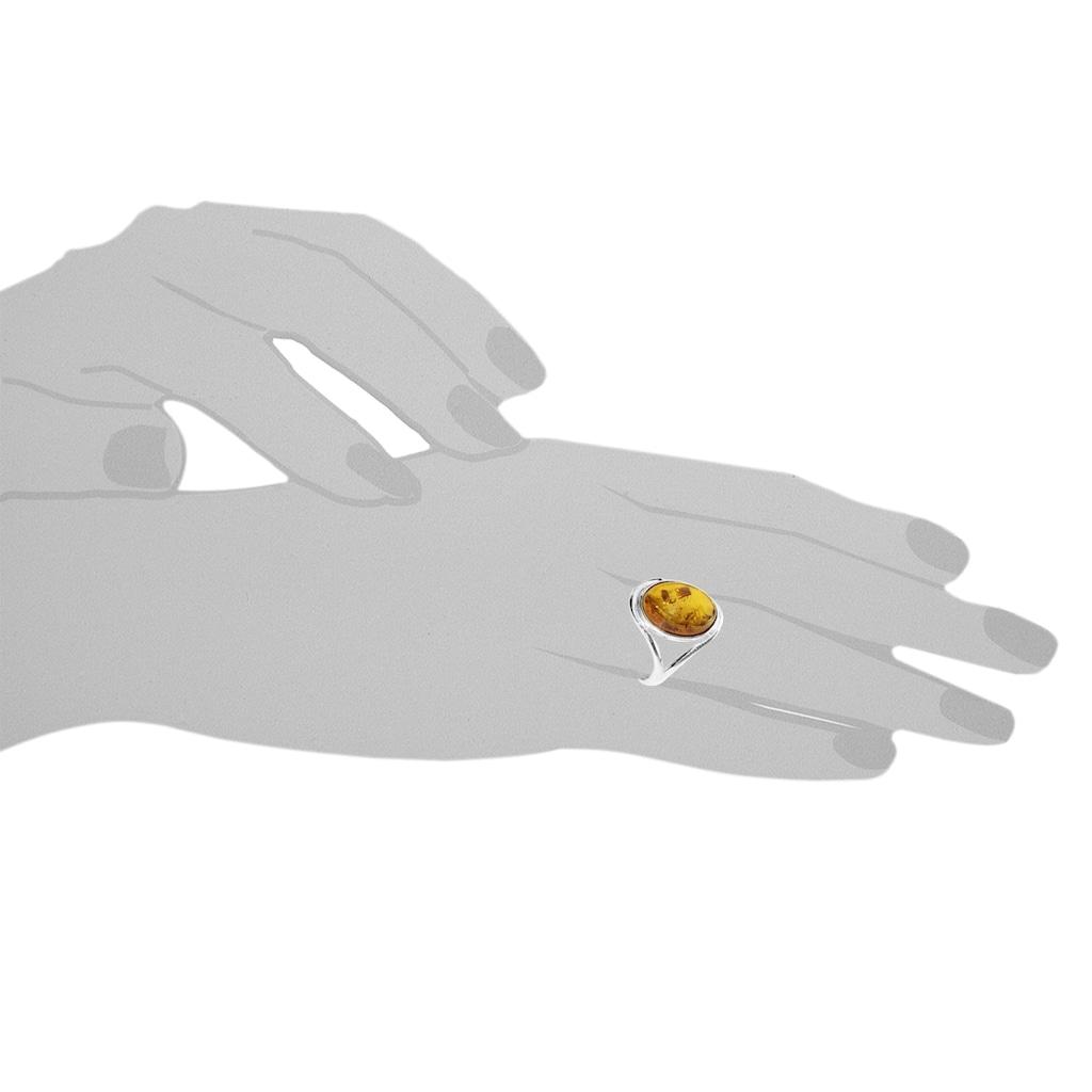 OSTSEE-SCHMUCK Fingerring »- Agnes - Silber 925/000 - Bernstein«, (1 tlg.)