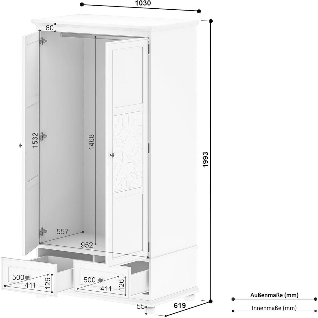 Home affaire Kleiderschrank »Isac«, Breite 103 cm