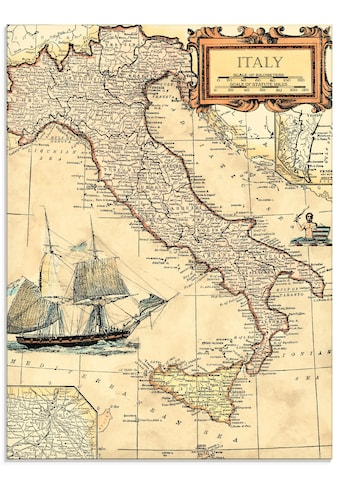 Artland Glasbild »Italienkarte«, Landkarten, (1 St.) kaufen