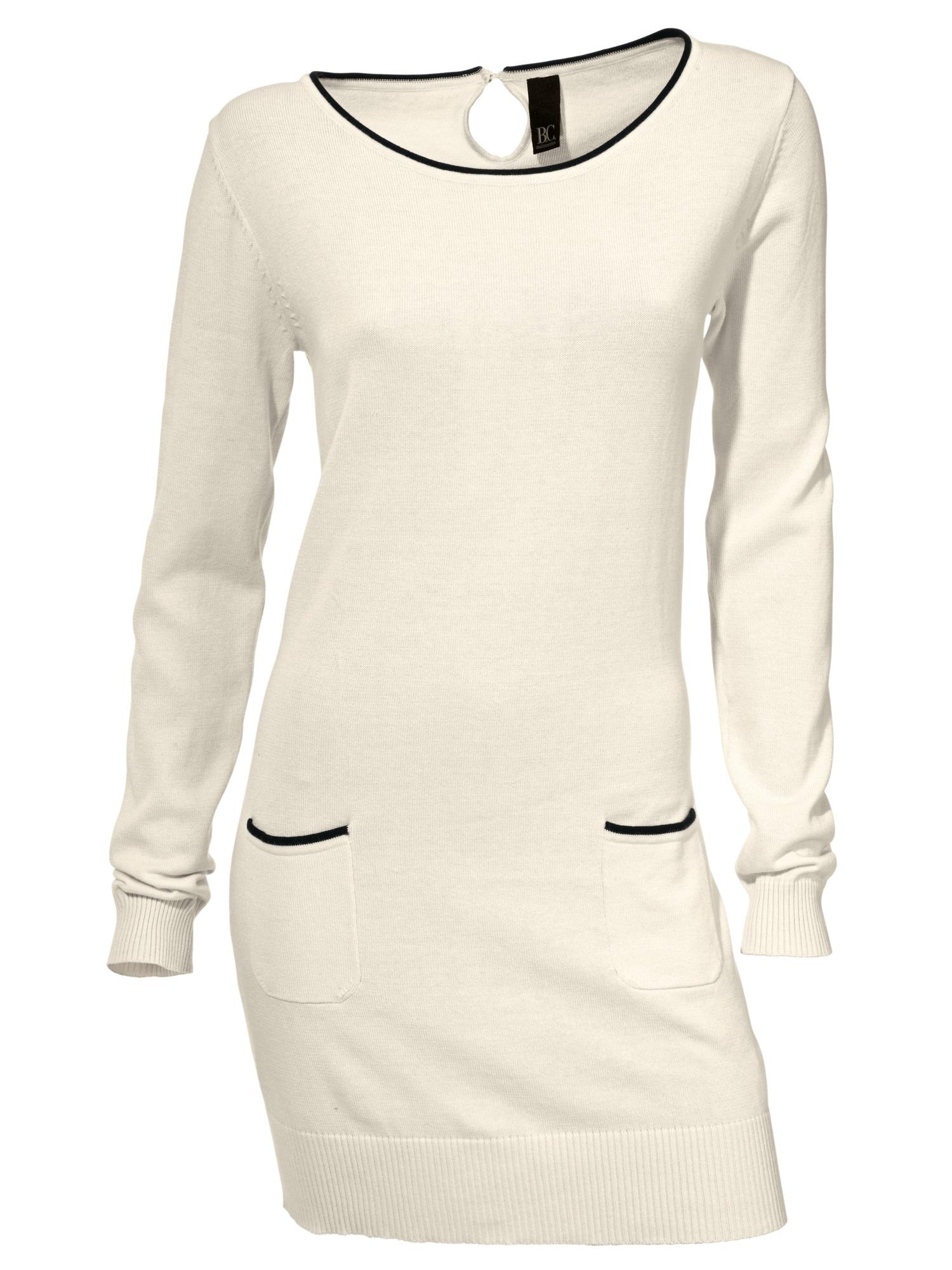 heine CASUAL Longpullover in Feinstrick | Bekleidung > Pullover > Longpullover | Weiß | Baumwolle | Heine Casual