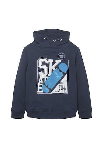 TOM TAILOR Kapuzenpullover »Sweatshirt mit Kragen und Paillettenmotiv« kaufen