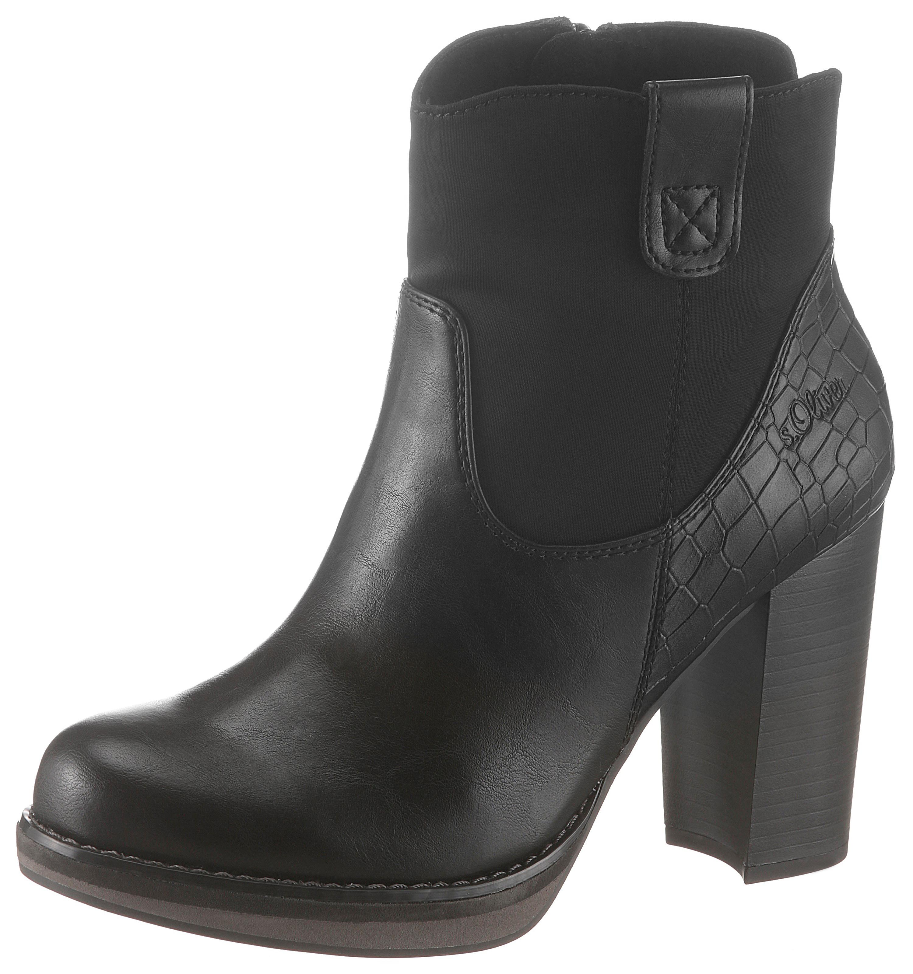 sOliver High-Heel-Stiefelette | Schuhe > High Heels > High Heel Stiefeletten | Schwarz | S.Oliver