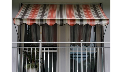 ANGERER FREIZEITMÖBEL Klemmmarkise rot/beige/braun, Ausfall: 150 cm, versch. Breiten kaufen
