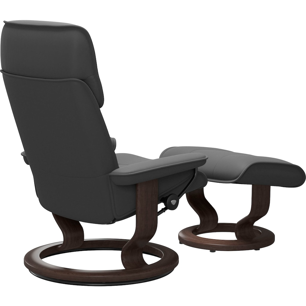 Stressless® Relaxsessel »Admiral«, mit Hocker, mit Classic Base, Größe M & L, Gestell Wenge