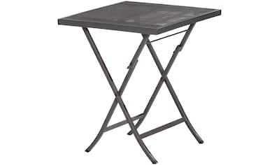 MERXX Gartentisch »Samos«, Stahl, klappbar, 60x60 cm, graphit kaufen