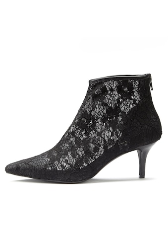 LASCANA Stiefelette, aus eleganter Spitze mit Kitten-Heel kaufen