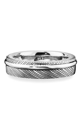 CAÏ Fingerring »925/- Sterling Silber rhodiniert Feder«, Ring kaufen
