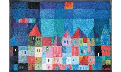 wash+dry by Kleen-Tex Fußmatte »Colourful Houses«, rechteckig, 7 mm Höhe,... kaufen