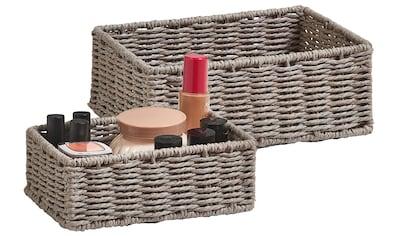 Zeller Present Aufbewahrungskorb »Aufbewahrungskörbchen«, (Set, 2 St.), ideal fürs Bad, Wohnzimmer oder Büro kaufen