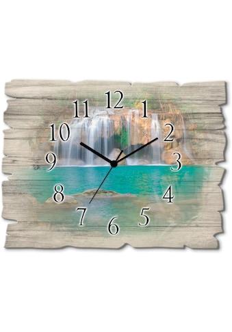 Artland Wanduhr »Wasserfall im Wald National Park« kaufen