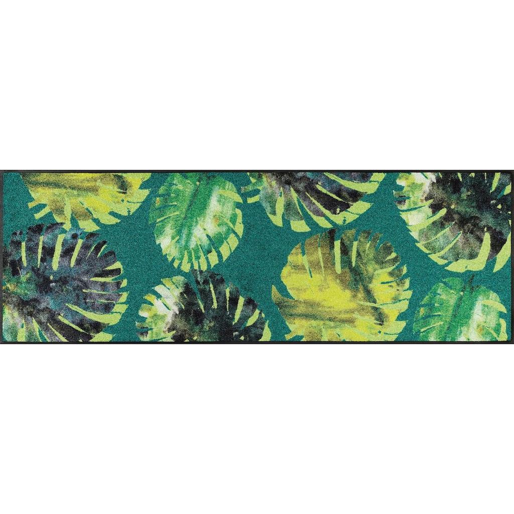 wash+dry by Kleen-Tex Läufer »Philo Leaves«, rechteckig, 7 mm Höhe