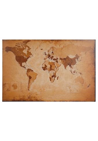 Home affaire Bild »Weltkarte - antik«, 90/60 cm kaufen