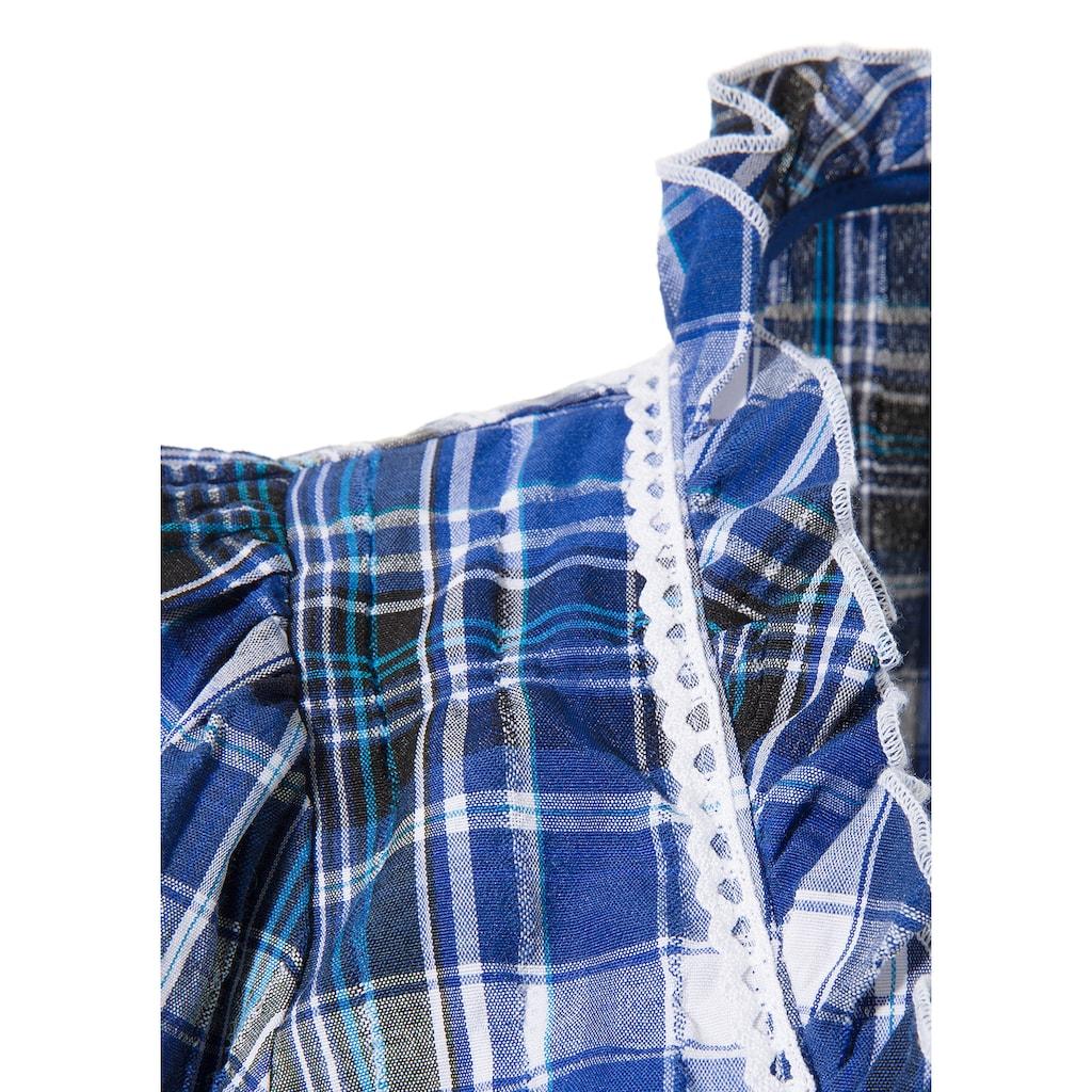 OS-Trachten Trachtenbluse, mit dekorativer Hirschstickerei