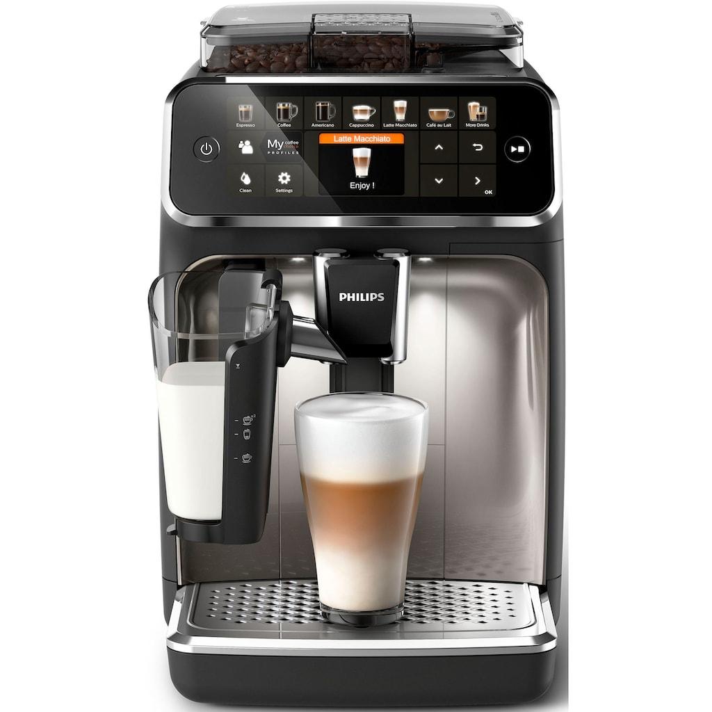 Philips Kaffeevollautomat »5400 Series EP5447/90 LatteGo«, chrom/mattschwarz