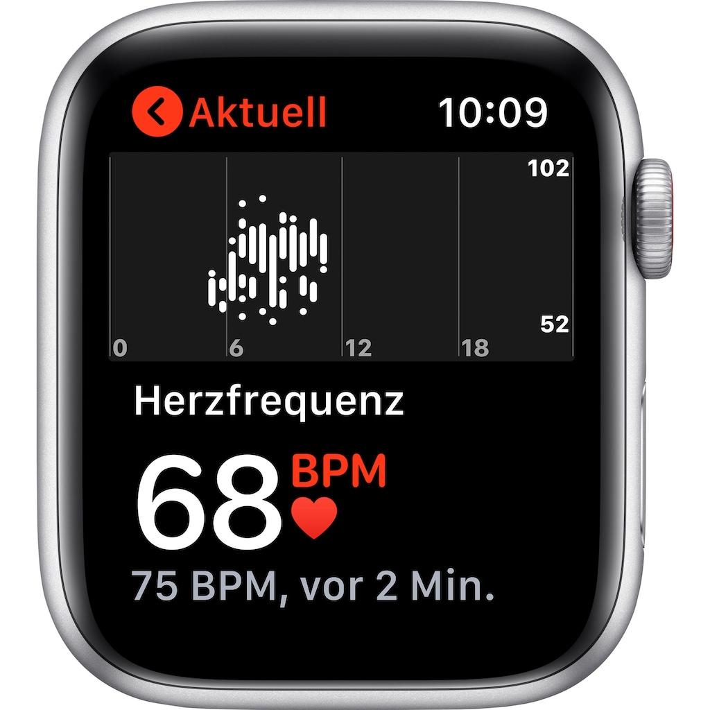 Apple Watch »Nike SE GPS + Cellular, Aluminiumgehäuse mit Nike Sportarmband 44mm«, (inkl. Ladestation (magnetisches Ladekabel)