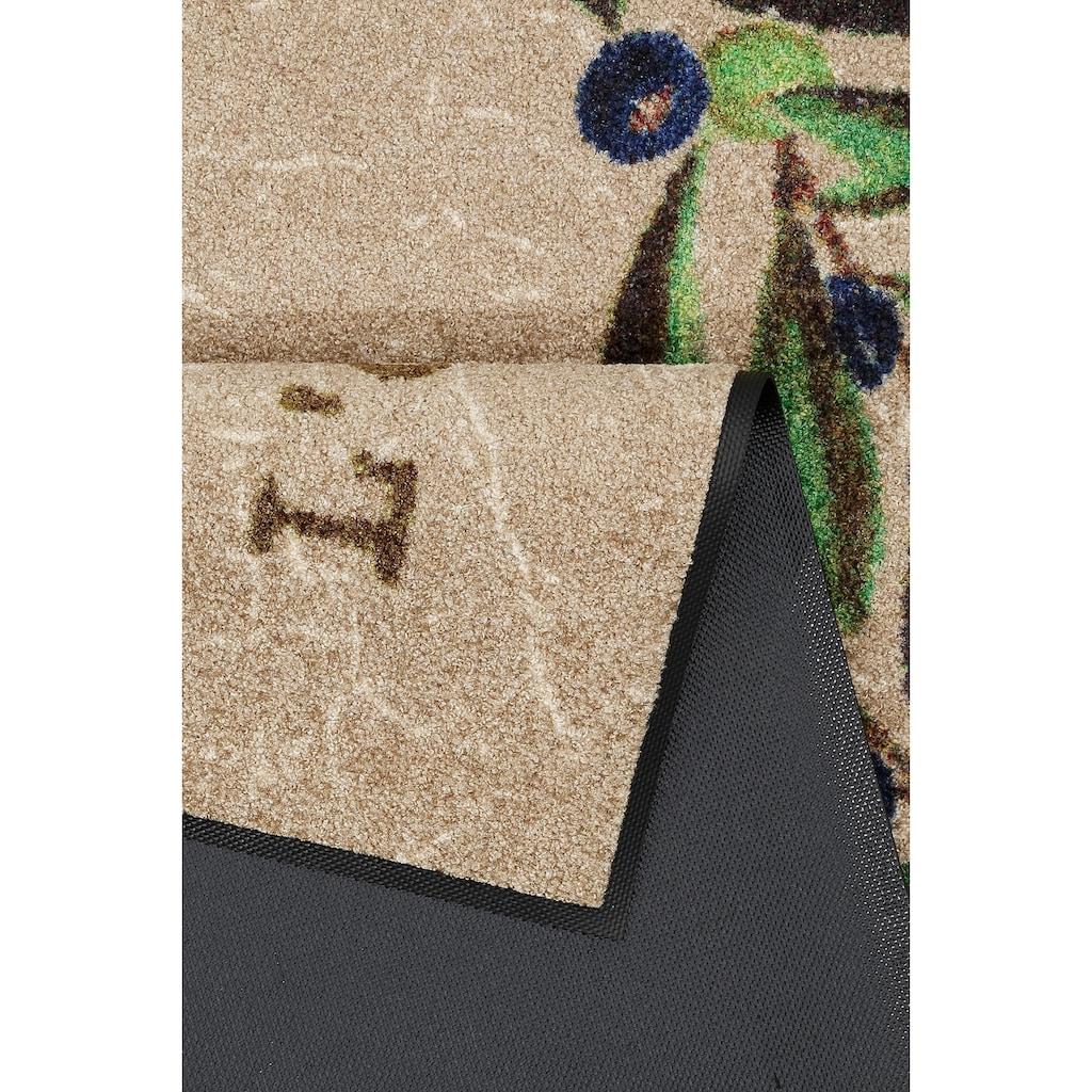 wash+dry by Kleen-Tex Küchenläufer »Le Citron«, rechteckig, 7 mm Höhe, In- und Outdoor geeignet