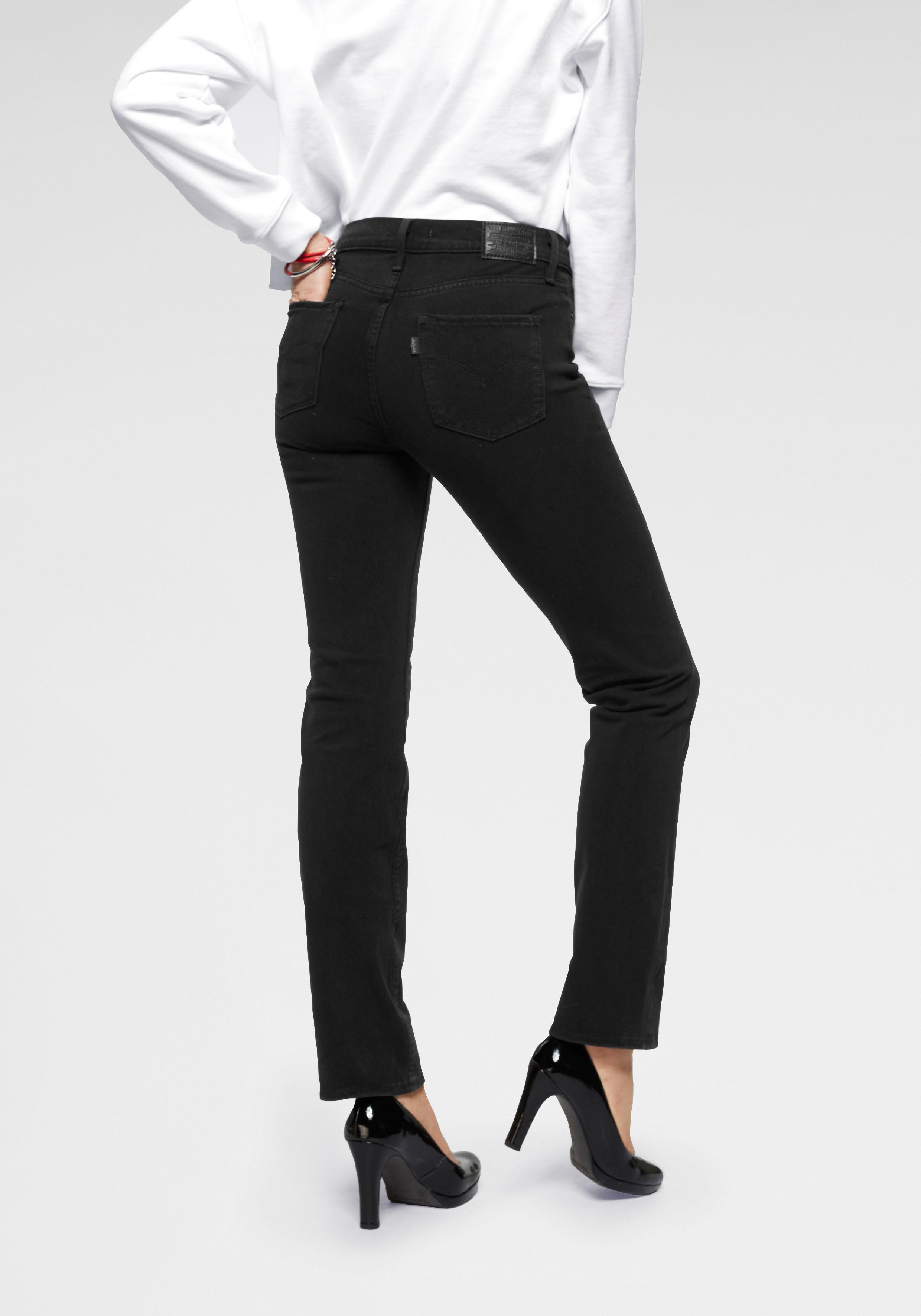Levi's Gerade Jeans 314 Shaping Straight | Bekleidung > Jeans > Gerade Jeans | Schwarz | Levi's
