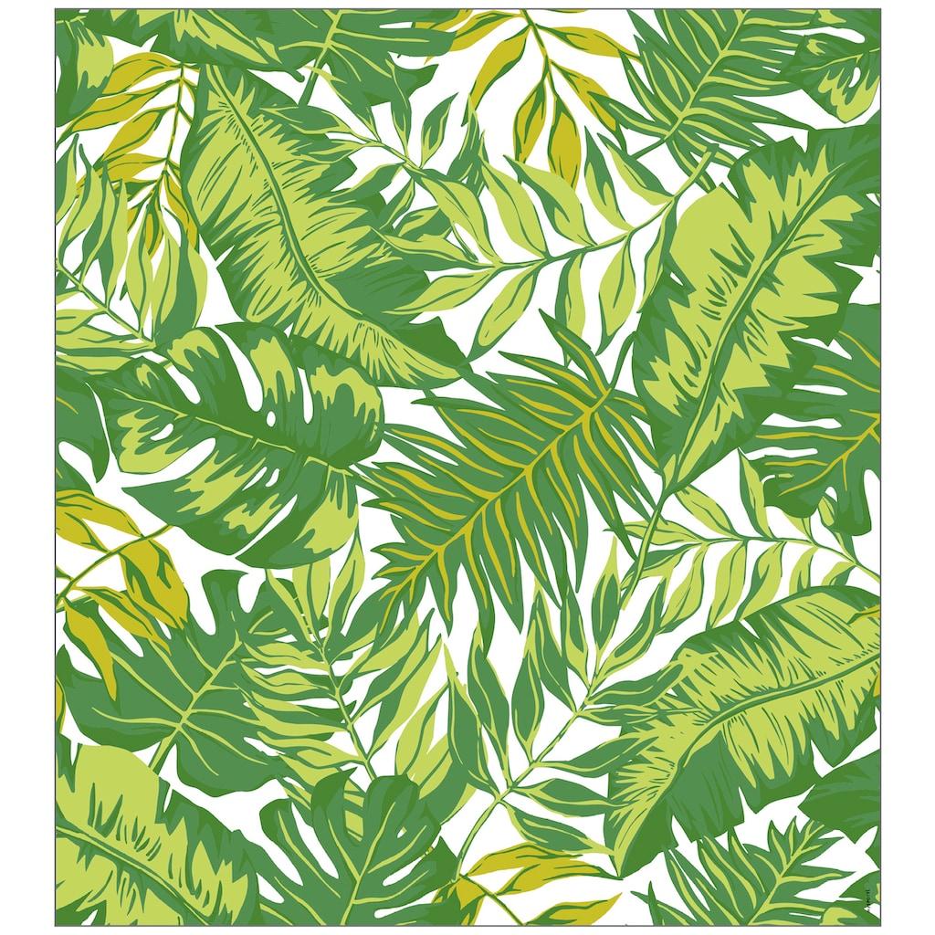 MySpotti Fensterfolie »Look Palm Leaves green«, halbtransparent, glattstatisch haftend, 90 x 100 cm, statisch haftend