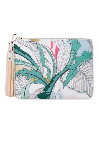 Codello Canvas - Kulturtasche mit stylischem Blätter - Print kaufen