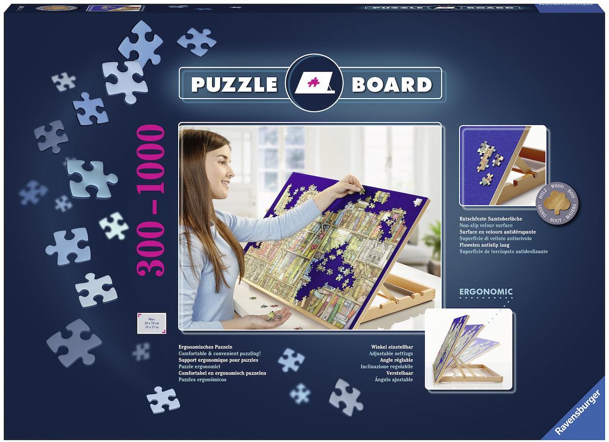 Ravensburger Puzzleunterlage Puzzle Board, mit rutschfester Samtoberfläche blau Kinder Puzzle-Zubehör Gesellschaftsspiele Puzzleorganizer